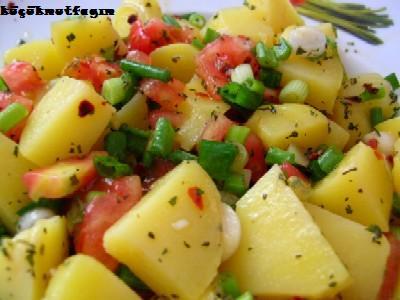 Patates Salatası, Patates Salatası Tarifi Fotosu Resmi oktay usta Patates Salatası