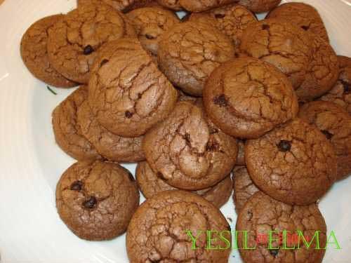 Damla çikolatalı diyet kurabiye Tarifi