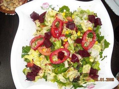 Bulgurlu Göbek Salata, Bulgurlu Göbek Salata Fotosu resmi
