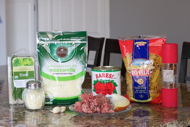 Mozzarella Peynirli-Kıymalı Makarna Pastası Tarifi 1