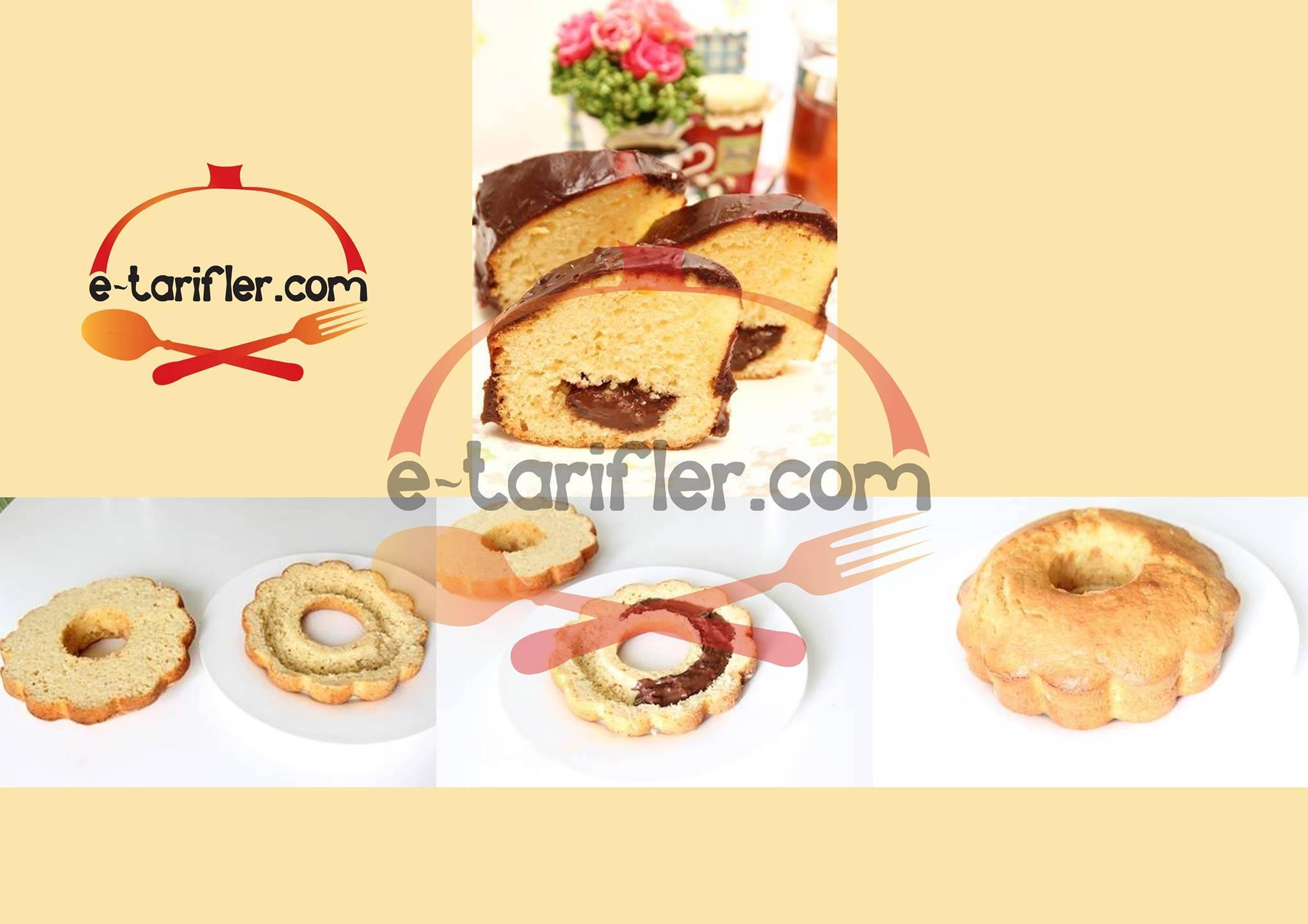 çikolata soslu kek resmi