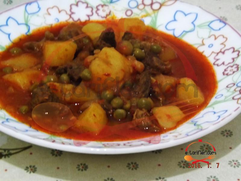 Bezelyeli Patatesli Yemek 3
