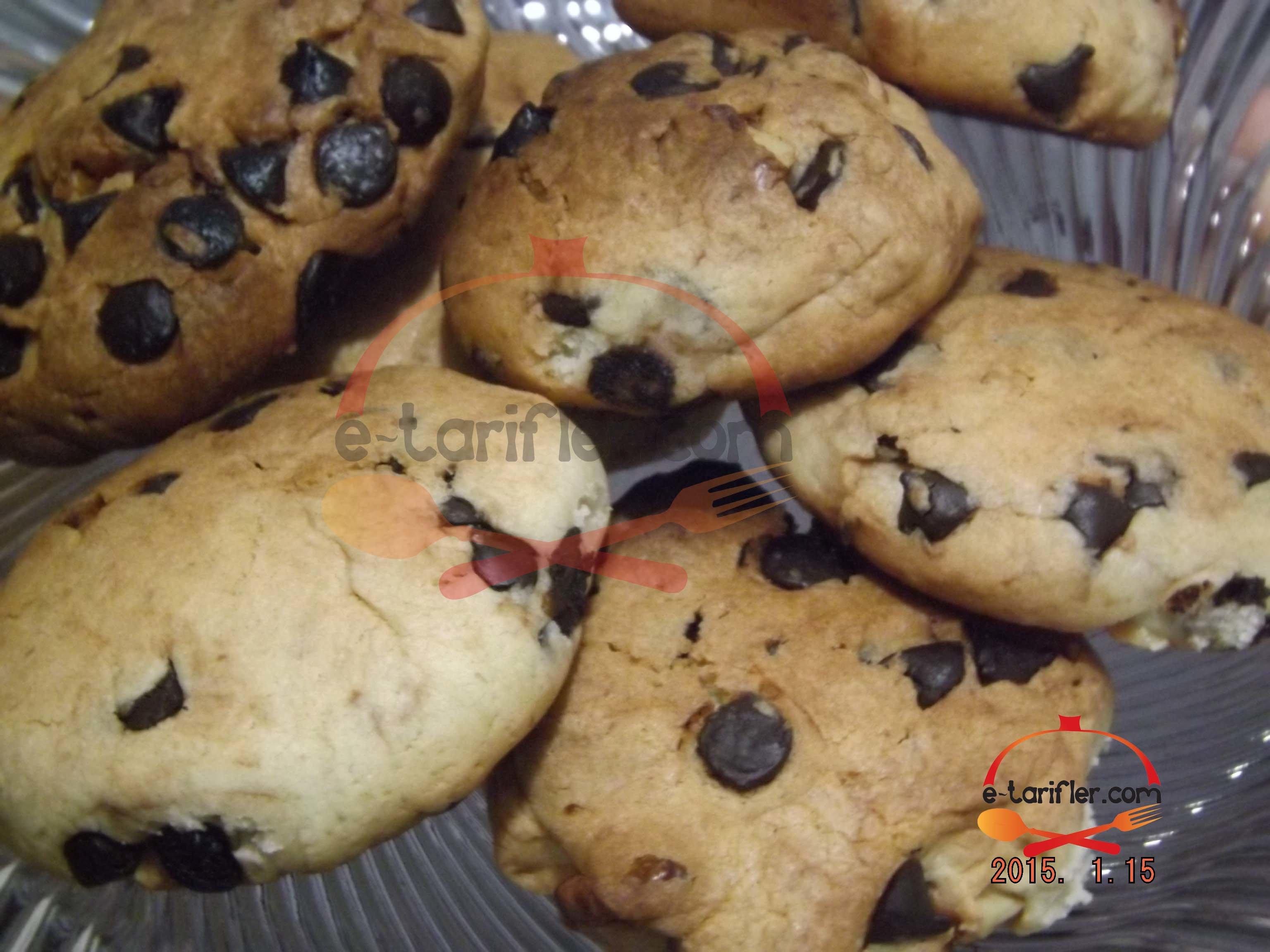 Damla çikolatalı cevizli kurabiye tarifi