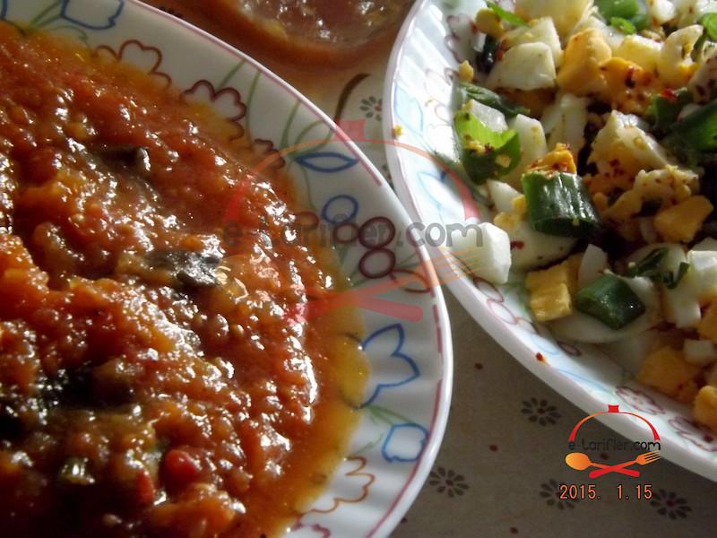 Menemen ve Yumurta Salatası