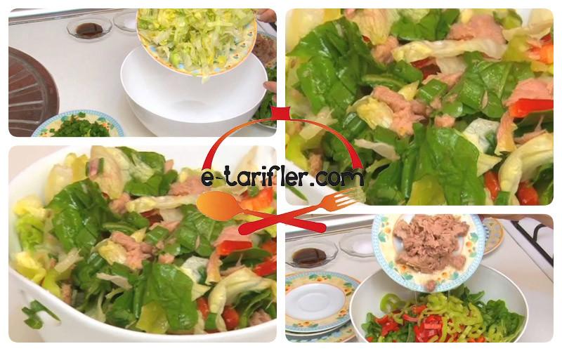 diyet ton balığı salatası resmi kopya