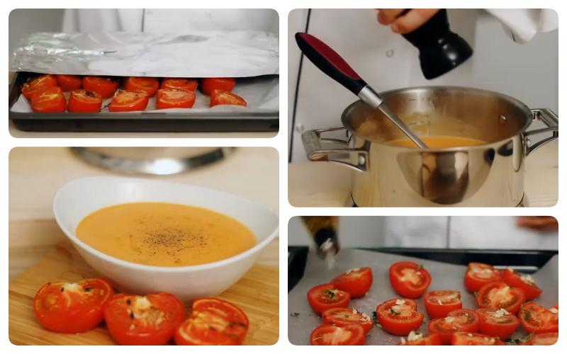 fırında domates çorbası tarifi resmi