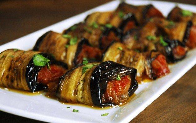 Patlıcan Ruloları (zeytinyağlı) Tarifi-resmi