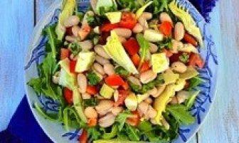 Diyet Enginarlı Kuru Fasulye Salatası Tarifi