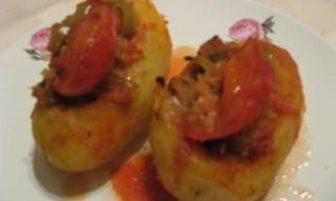Etli Patates Dolması Tarifi