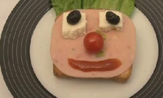Çocuklar için eğlenceli sandviç tarifi